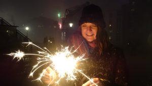Wunderkerzen an Silvester 2017